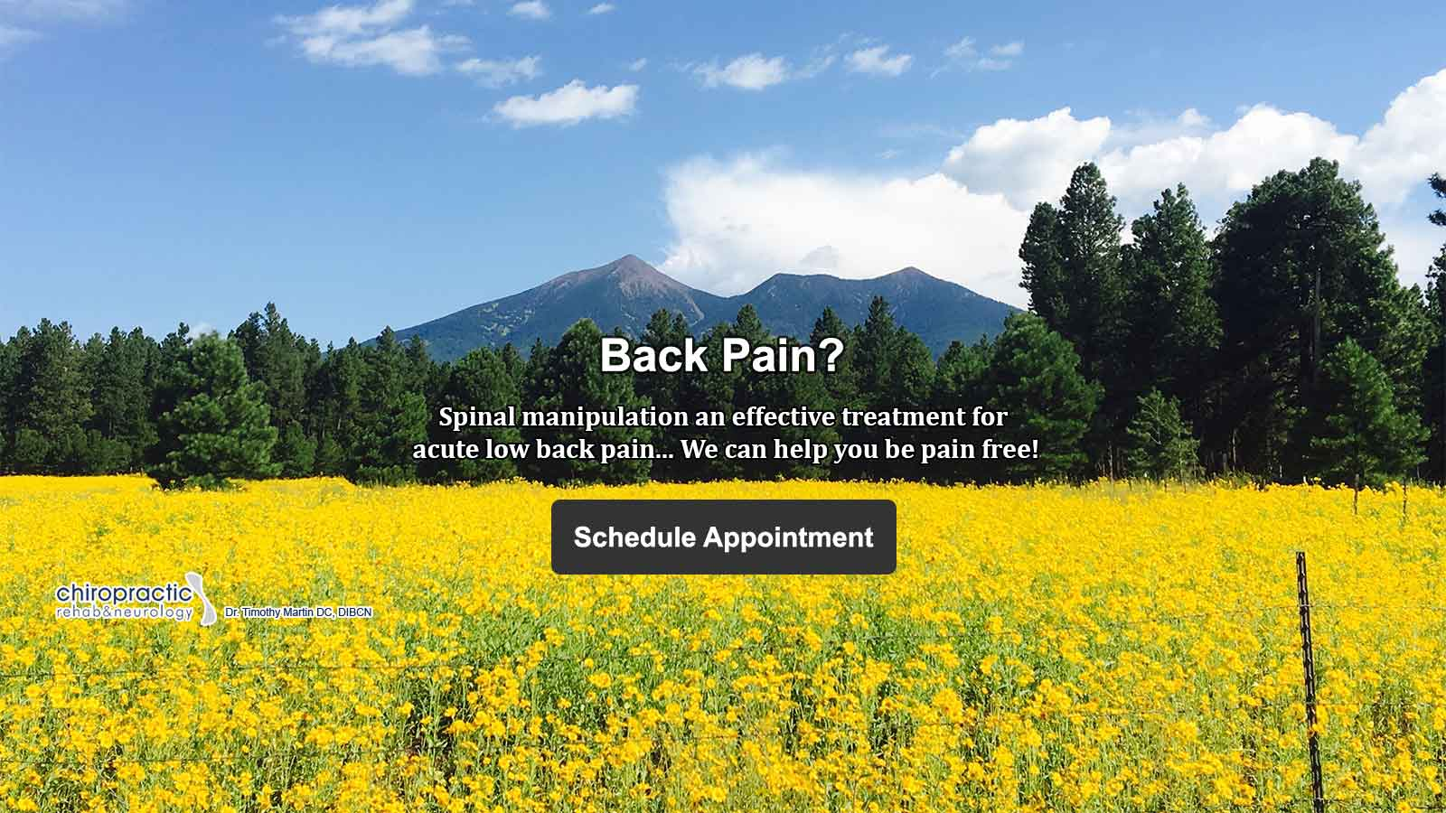 Spinal manipulation - Chiropractic care in Anthem, Cave Creek, Carefree, Tramonto, and Northern Arizona